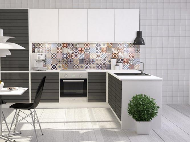 Плитка с изразцами на фартук в кухню