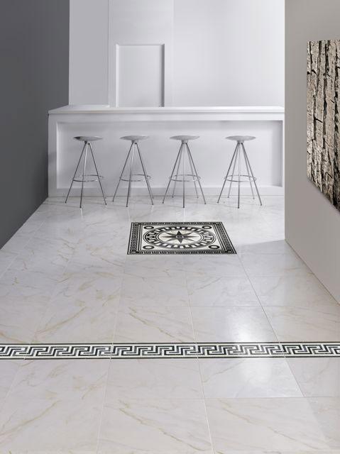 Плитка под белый мрамор