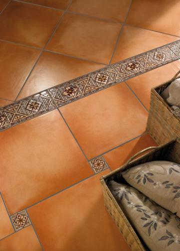Напольная клинкерная плитка с декором